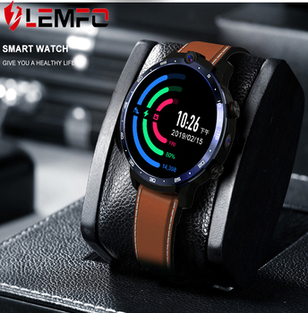 LEMFO LEM12 Smart Watch Men 4G Face ID 1.6 Inch Full Screen Android 7.1 OS 3G RAM 32G ROM LTE 4G Sim GPS WIFI Heart Rate Monitor