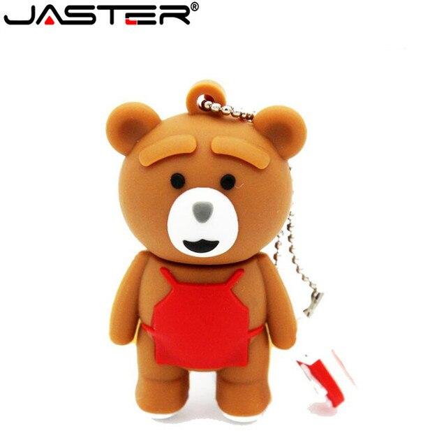 JASTER del bambino dellorso del Fumetto pendrive 4GB 16GB 32GB 64GB usb 2.0 usb flash drive di memoria del bastone pen drive regalo di modo di Trasporto libero