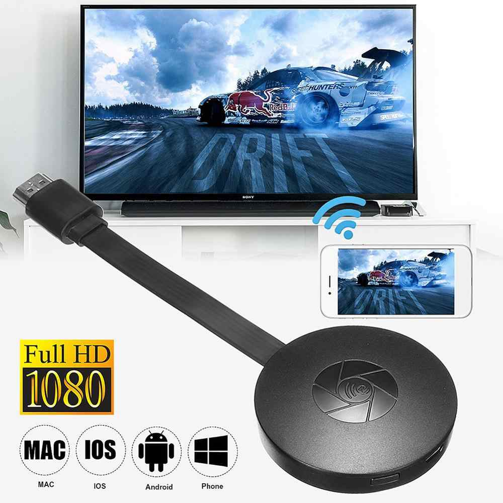 2.4G 1080P Nirkabel HDMI Wifi Display TV Stick Receiver Dongle Google Home Mirascreen Miracast Airplay Ezmira untuk IOS android PC