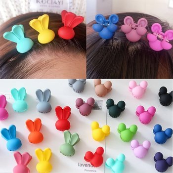 50 pcs lot cute barrette small mini 3cm bow sweet hair clips for girls hair accessories solid dot stripe printing kids hairpins Cute 20 pcs/pack Fashion Baby Girls Mini Heart Rabbit Flowers Hair Clips Sweet Children Hairpins for Kids Hair Accessories