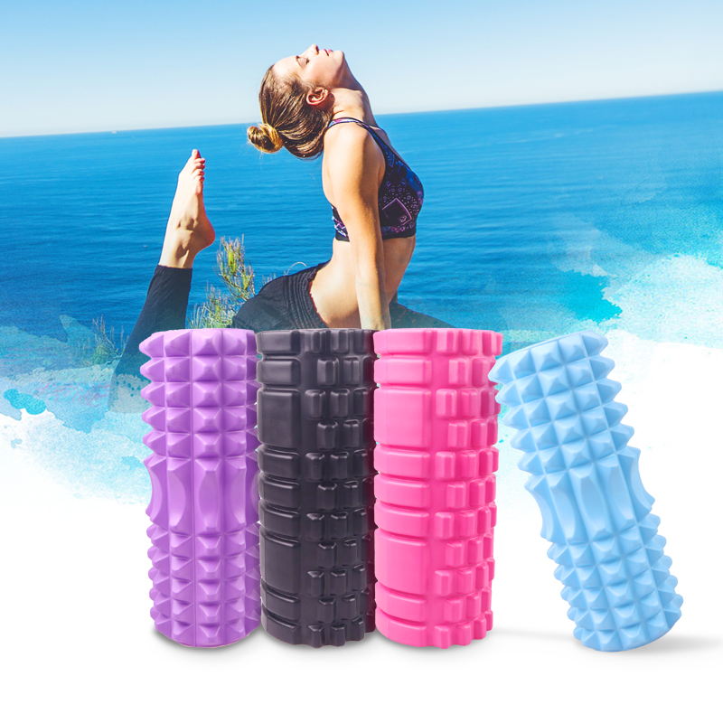 33CM Yoga Column Fitness Pilates Yoga Foam Roller Blocks Train Gym Massage Grid Trigger Point Therapy Physio Exercise