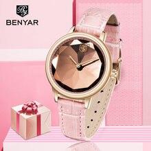 Новые benyar женские часы люксовый бренд кварцевые золотые наручные