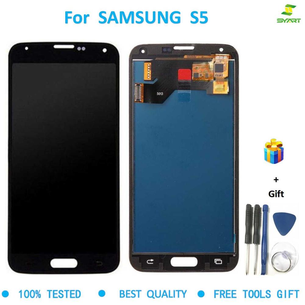 New Quality TFT For Samsung Galaxy S5 <font><b>G900</b></font> G900F LCD <font><b>Display</b></font> Screen Touch Digitizer Assembly For Samsung S5 LCD G900F 5.1