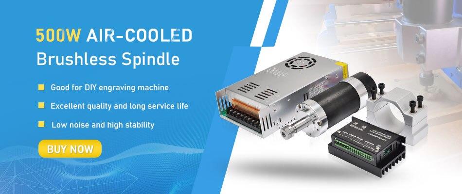 Abrazadera para M/áquina de Grabado ER16 500W Alta Velocidad Motor de Husillo sin Escobillas de Refrigeraci/ón por Aire Conductor
