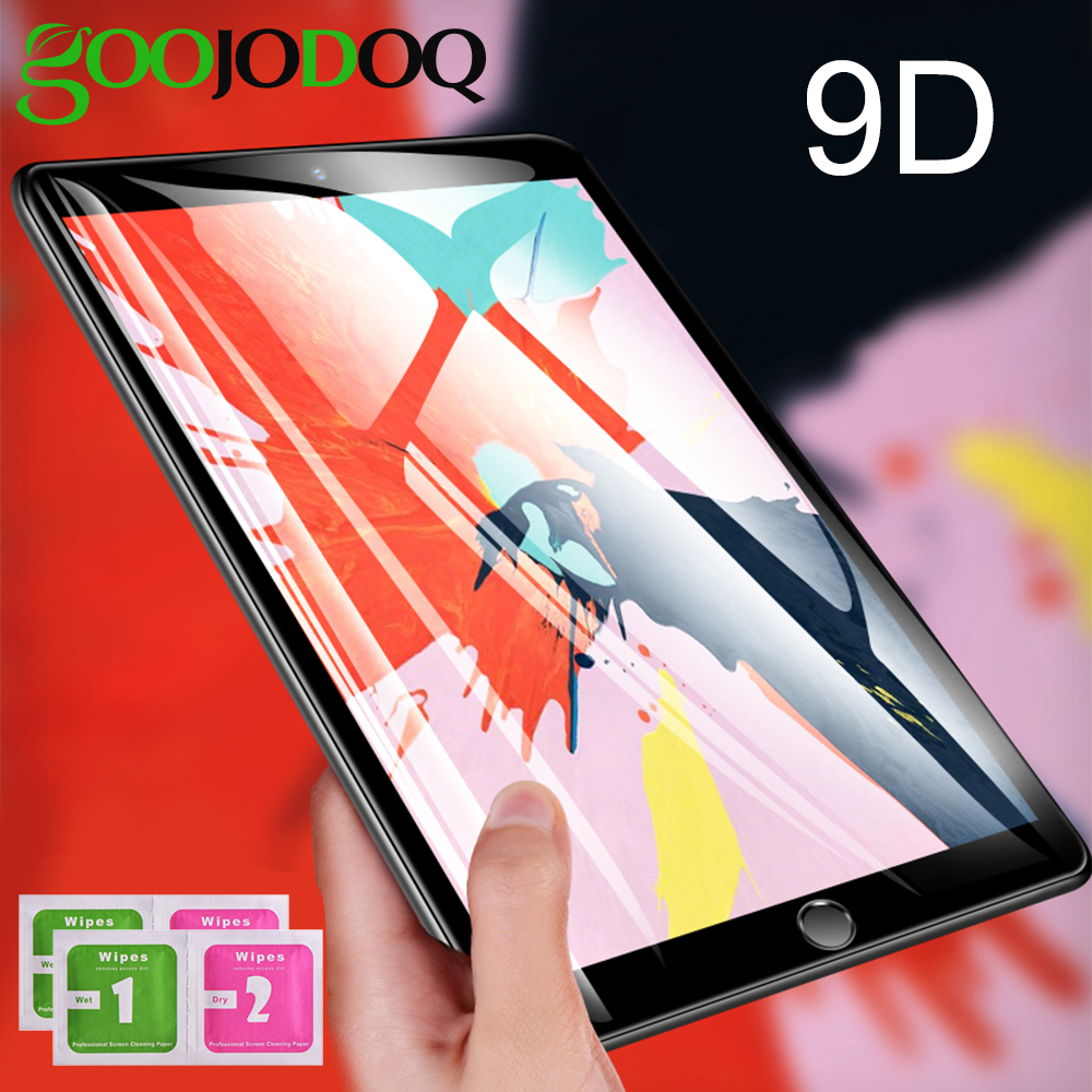 "GOOJODOQ Screen Protector For IPad 10.2 2019 / 9.7"" (2018 & 2017) / Pro 9.7 / Air 2 For IPad Air Tempered Glass Screen Protector"