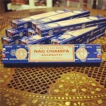 Indian Incense Satya Nag Champa Line Fragrant Sai Baba Meditation Home Sandalwood Incense C indian satya nag champa sandalwood line fragrance purifying air meditation bedroom anshen 16 flavors c