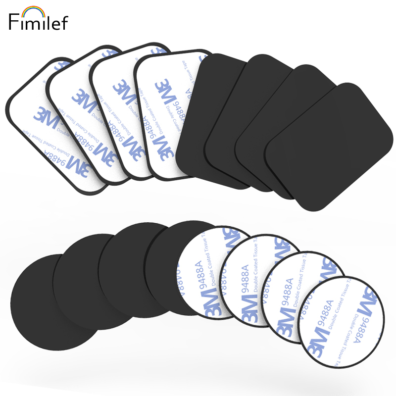 Fimilef 8pcs/5pc/lot Metal Plate Disk For Magnet Car Phone Holder Iron Sheet Sticker For Magnetic Mobile Phone Holder Car Stand