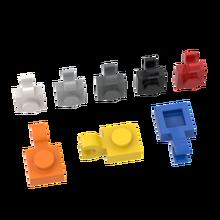 Buildmoc tijolos 61252 1x1 placa de aperto longitudinal lateral ldd61252 6019 universal para blocos de construção peças diy presente brinquedos