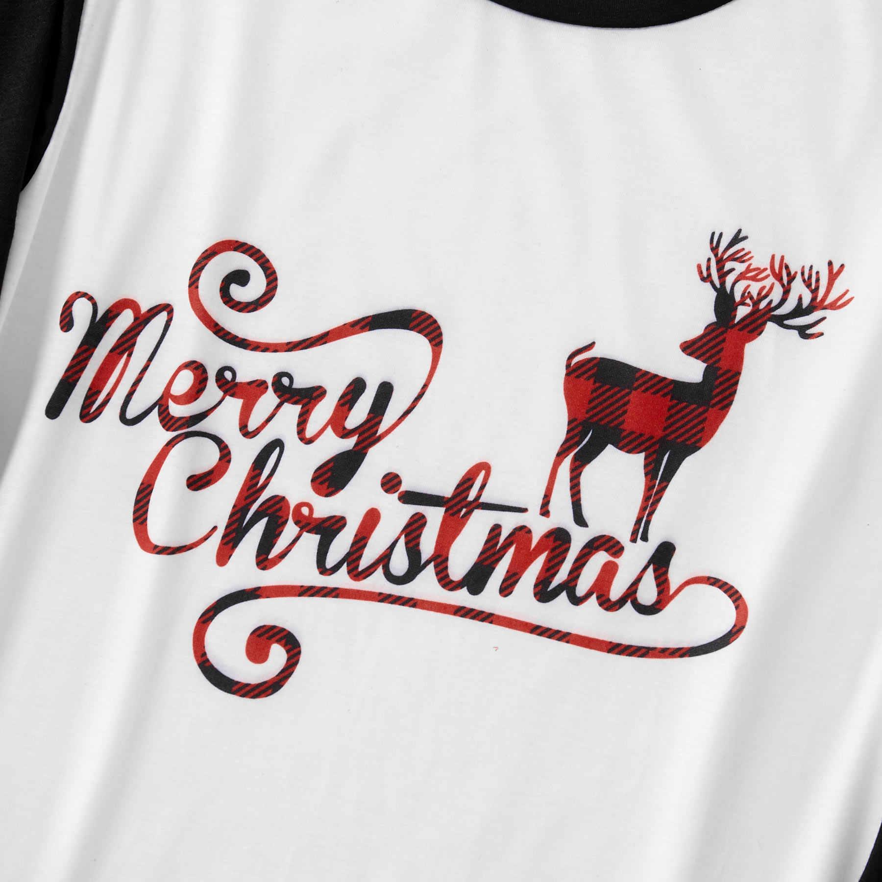 ครอบครัวดู Elk ลายสก๊อตคริสต์มาสชุดนอน Mommy พ่อและ Me ชุดนอนเสื้อผ้า Xmas ชุดนอนชุดนอนชุดและหมวก