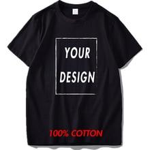 100% Natural Cotton Custom T Shirt DIY Graphic Or Text Logo Add Your Design Tshirt Soft High Quality Short Sleeve Camisetas