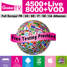 Global TV IPTV World Wide Channels 4500 Live 8000+ VOD Europe France Italia spain Arabic FHD HD H.265 iptv subscription Test m3u