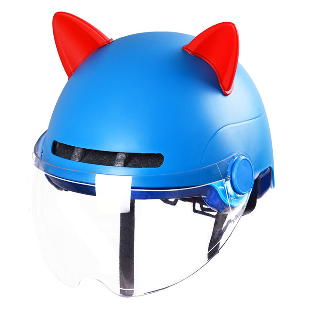 2PCS/Set Car Motorcycle Helmet Cat Ears Motocross Full Face Off Road Helmet Decoration Sticker Cosplay Car Accessori Car styling