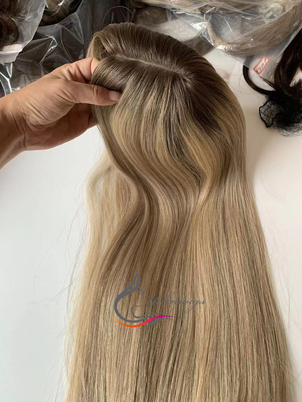 cabelo alta qualidade europeu cabelo kippah queda kosher cabelo peças