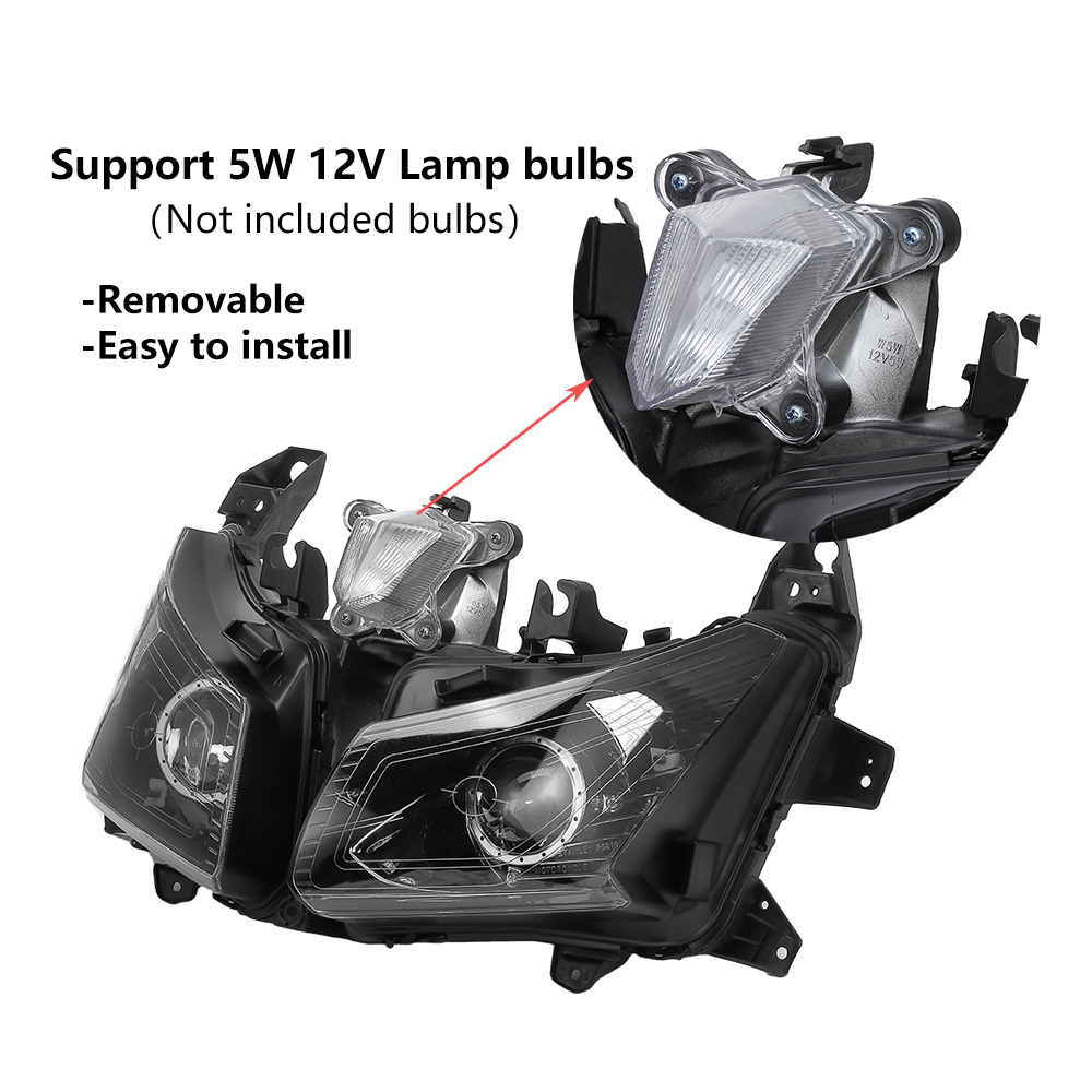 Image 3 - For Tmax530 Motorcycle HeadLight For Yamaha TMAX 530 Front Headlamp For T MAX530 2012 2013 2014 Assembly Lamp Head Light Replace