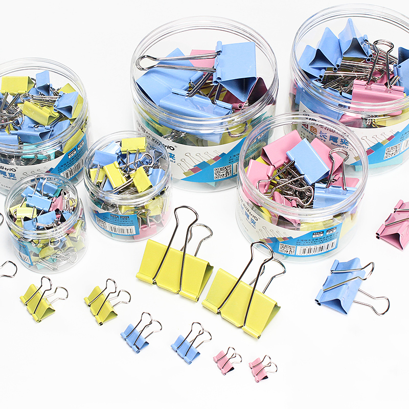 15/19/25/32/41mm Metal Binder Clips School Document File Clip Bookmark Color Paper Clip Office Binding Supplies
