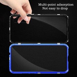 Image 4 - Роскошный магнитный металлический чехол для Xiaomi Mi Cc9 Cc9e 9t Cc 9 Se 8 Redmi K20 Note 8 7 Pro 128 ГБ Global двойное стекло 360 Полное покрытие