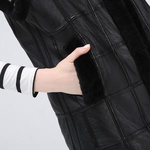 Image 5 - Vestes cisaillées pour femmes vestes pour femmes garder au chaud gilet en peau de mouton naturel à la mode pour les femmes