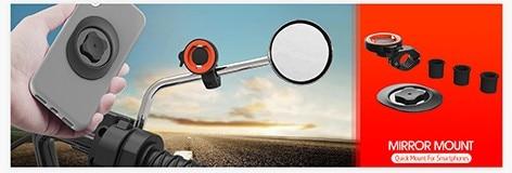 Motorcycle Mirror Phone Mount