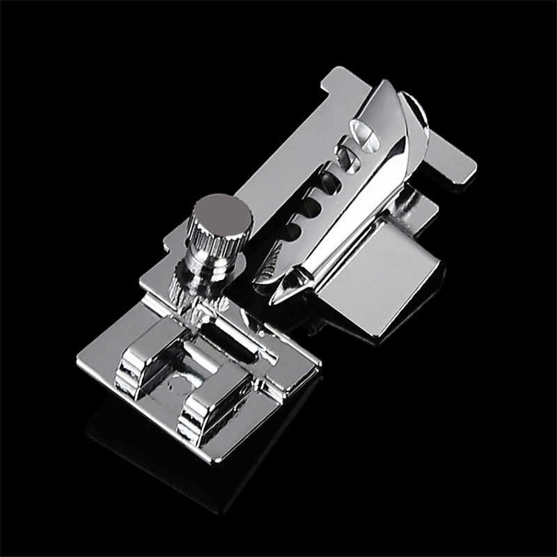 1Pcs Domestic Sewing Machine Foot Presser Rolled Hem Feet Set For Brother Singer Sewing Accessories Stitcher Sliver