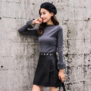 Image 3 - 2019 New Fashion Genuine Real Sheep Leather Skirt J32