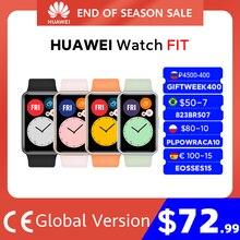 HUAWEI-reloj inteligente FIT versión Global, pulsera con animaciones de entrenamiento rápido, oxígeno en sangre, batería de 10 días
