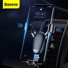 Baseus-minisoporte de Metal para teléfono de coche, base de montaje en aire para iPhone Xs Max X Samsung S9