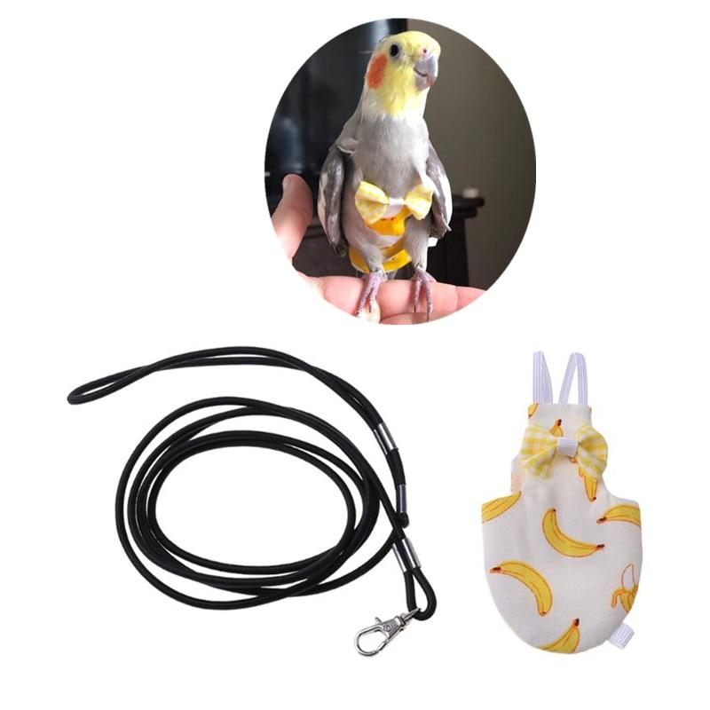 オウムおむつ調節可能なポータブルペット服鳩オウムフライングスーツ鳥おむつ鳥用品 xs/s/m/l サイズ C42