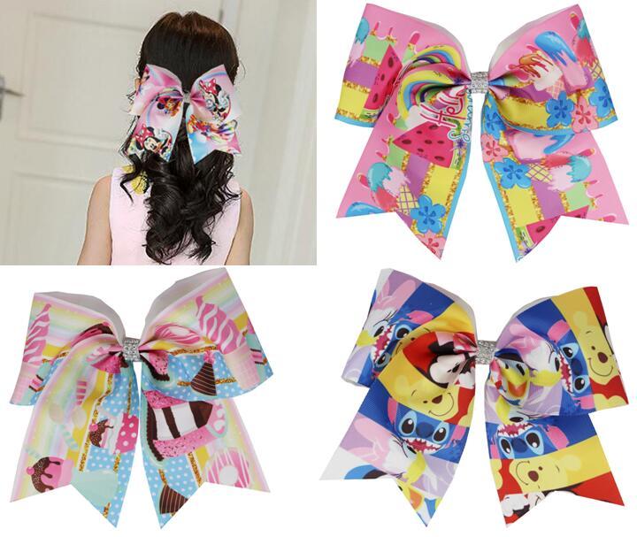 Cheerleading hair bows girl cheap 3inch cheer hairbows ponytail holder US seller