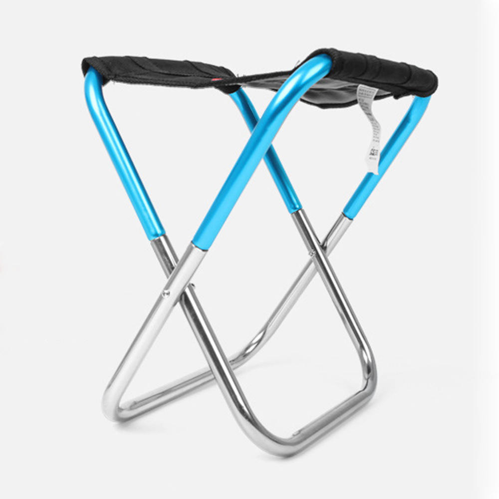Outdoor Foldable Fishing Chair Portable Aluminum Fishing Chair Ultra Light Weight Travel Picnic Camping Chairs With Bag