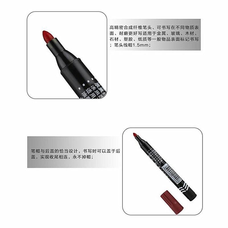 5 шт. маркер с перманентной краской ручка жирной Водонепроницаемый черная ручка для шин мотоцикла маркеры быстрое высыхание Канцелярия: ручка с подписью расходные материалы 6