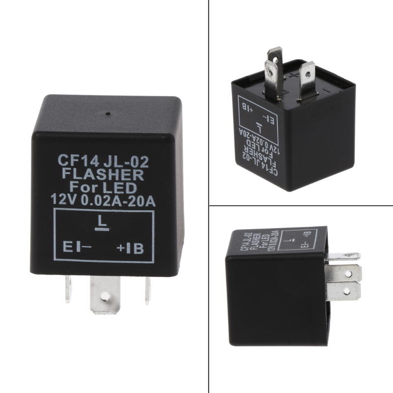 3-Pin Adjustable CF14 JL-02 LED Flasher Relay Fix Turn Signal Hyper Flash Issue Automobiles Switches & Relays