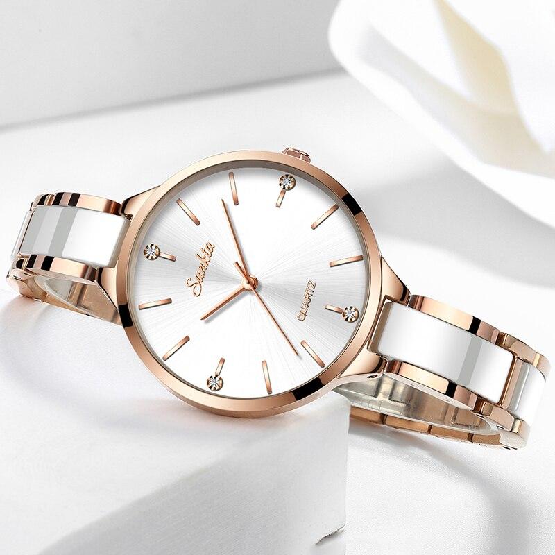 SUNKTA Woman Watches Rose Gold Top Brand Gift Luxury Watch Women Quartz Waterproof Women's Wristwatch Ladies Girl Watches Clock