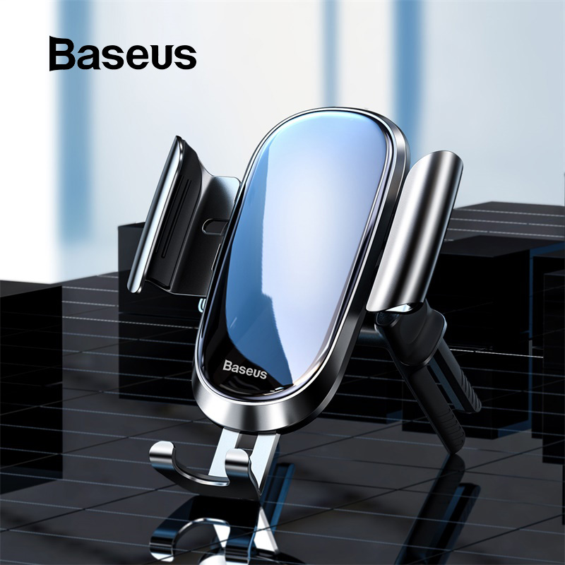 Baseus Car Phone Holder For IPhone 11 Air Vent Mount Clip Cell Mobile Phone Holder Stand Support For Samsung Gravity Car Holder