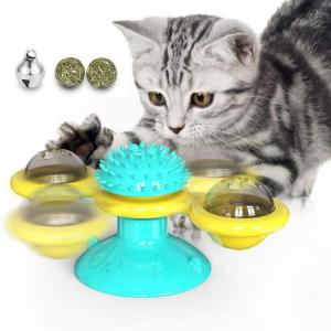 Cat Toy Windmill Turntable Tea