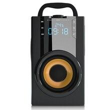 2200 MAh 4.2 Loa Bluetooth Không Dây Ngoài Trời Màn Hình Hiển Thị LED 3D Vòm Stereo Loa Siêu Trầm Nghe Đài Phát Thanh Đồng Hồ Báo Thức TF FM Aux thẻ