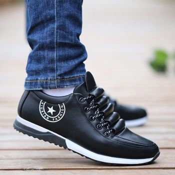 Men PU Leather Shoes Business Casual Shoes for Man Breathable Sneakers New Fashion Loafers Walking Footwear Party Male Shoes 2019 fashion sneakers leather men casual shoes zapatos hombre footwear male walking shoes designer men business shoes flat dress