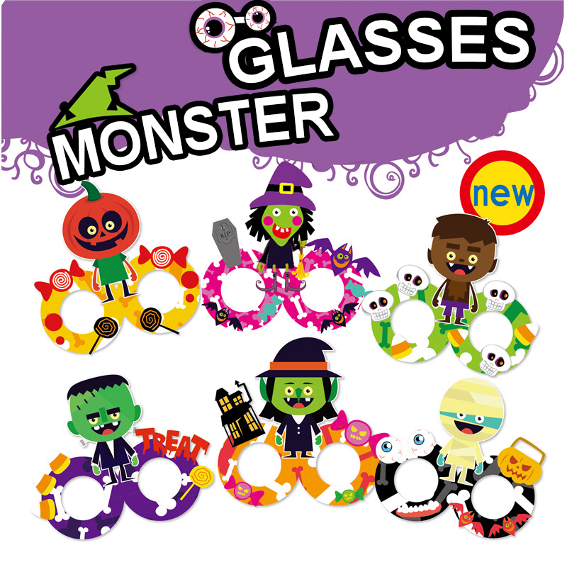 Kindergarten Lots Arts Crafts Diy Toys Halloween Costume Glasses Crafts Kids Educational For Children's Toys Girl/boy Gift 16911