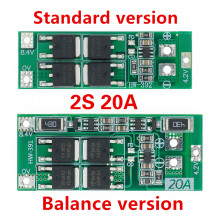 2s 20a 7.4v 8.4v 18650 placa de proteção da bateria de lítio/bms placa padrão/equilíbrio