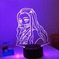 3d аниме-лампа Demon Slayer Kimetsu No Yaiba Nezuko Kamado фигурка для спальни Декор ночной Светильник детский столик 3d лампа подарок
