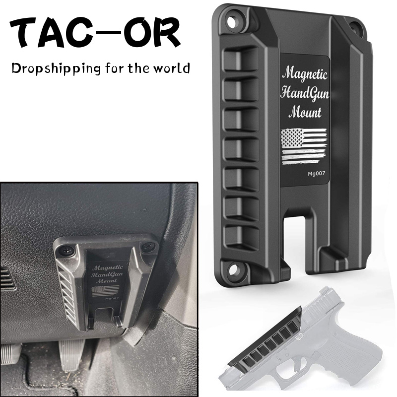 Tactical Magnetic Concealed Handgun Pistol Holder Holster Gun Magnet Under Desk Table Door Bed Car For Glock Sig XD M&P Rug
