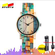QW sport Montre Bambu Dama Madera Relojes De Mujer bambusowe zegarki na rękę Lady kobiety własne logo drewniany zegarek