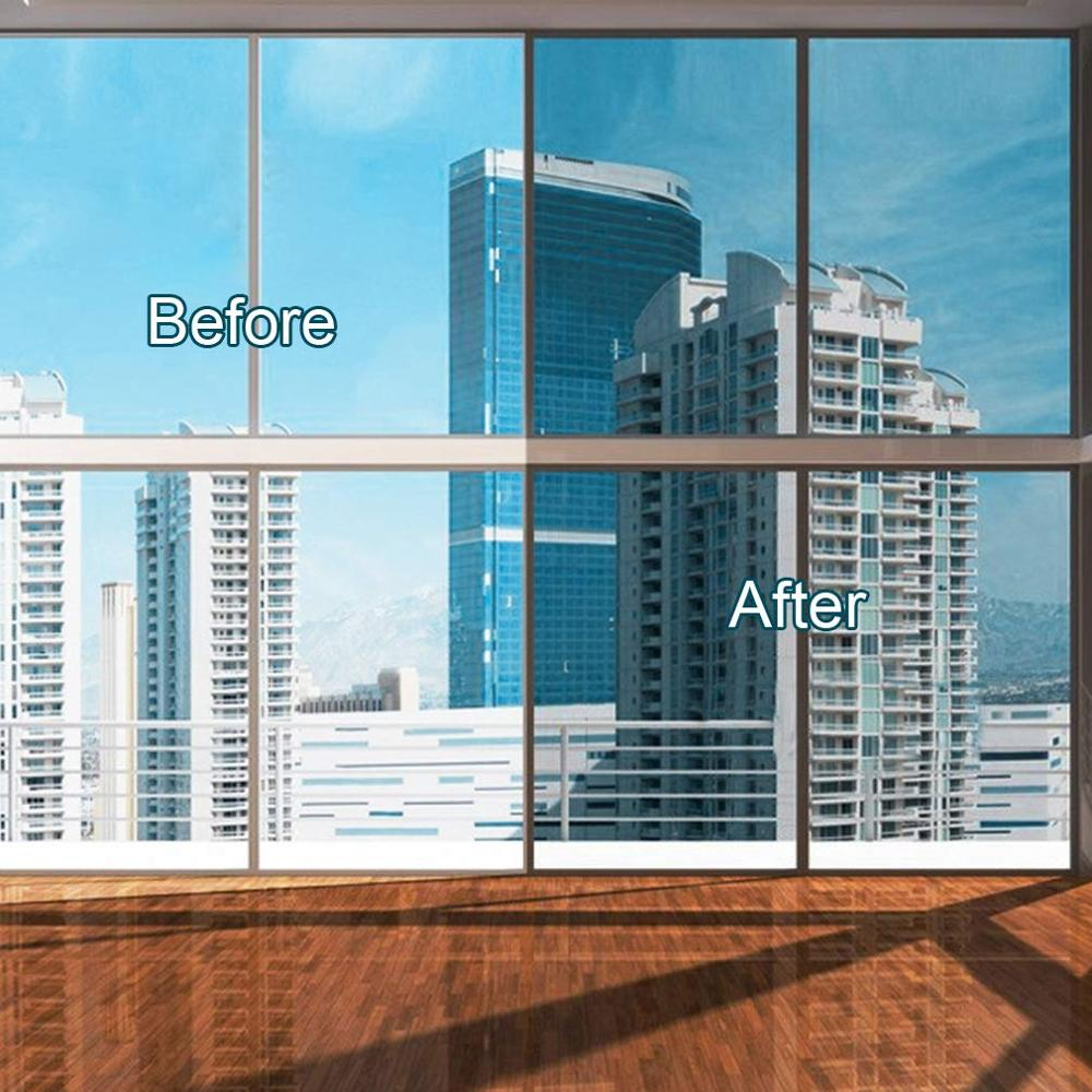 Window Privacy Film Sun Blocking Mirror Reflective Tint One Way, Heat Control Vinyl Anti UV Window Stickers for Home and Office 3