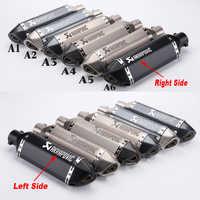 Universal Left & Right Motorcycle Akrapovic Exhaust Pipe Muffler Escape For RC390 Z800 GSXR750 TMAX530 XMAX300.250 CBR500 CBR300