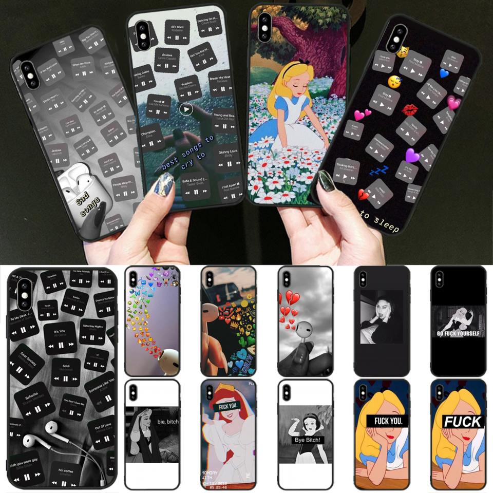 Baweite Snow White Wallpaper Bling Cute Phone Case For Iphone 11 Pro Xs Max 8 7 6 6s Plus X 5 5s Se Xr Cover Half Wrapped Cases Aliexpress