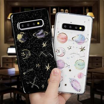 Glitter Space Planet Case For Samsung Galaxy A50 A70 A60 A40 A30 A20 A10 S7 Edge S8 S9 Plus S10 S20 Ultra Cover J3 J4 J5 J7 2017 case for samsung galaxy a7 2018 s8 s9 s10 plus s7 edge j3 j5 j7 a3 a5 2017 2016 a8 plus liquid glitter quicksand soft tpu case