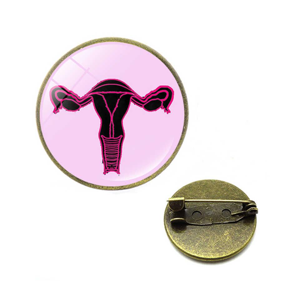 Nữ Tử Cung Bụng Mẹ Xòe Tặng Chủ Nghĩa Nữ Quyền Biểu Tượng Pin Huy Hiệu Nút Lapel Pin Quần Áo Nắp Túi Tử Cung Meredith Màu Xám Y Tế Trang Sức