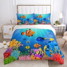 Pościel dla dzieci zestaw dla dzieci łóżeczko dziecięce chłopcy dziewczyny dziecko luksusowe Cartoon zestaw poszewek poszewka na poduszkę kołdra okładka pojedyncze ryby tanie tanio Olrynns Brak Zestawy poszew na kołdry mikrofibra 1 0 m (3 3 stóp) 1 35 m (4 5 stóp) 1 5 m (5 stóp) 1 2 m (4 stóp) 1 8 m (6 stóp)