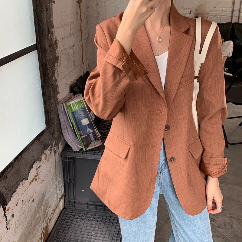 HziriP Hot Sale Women Streetwear Casual Elegant All Match 2019 Slender Large Size Gentle Feminine Office Lady Loose Blazers