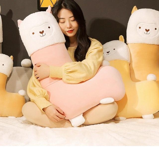 45 80cm Lovely Alpaca Plush Toy Vicugna Pacos Japanese Soft Stuffed Cute Alpacasso Sheep Llama Animal Dolls for Kids Girls Gifts