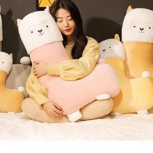 Image 1 - 45 80cm יפה אלפקה קטיפה צעצוע Vicugna Pacos יפני רך ממולא חמוד Alpacasso כבשים הלמה בעלי החיים בובות ילדים בנות מתנות